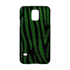 Skin4 Black Marble & Green Leather (r) Samsung Galaxy S5 Hardshell Case