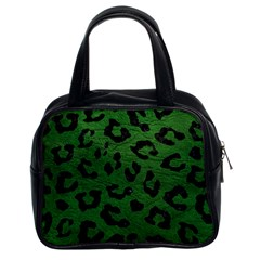 Skin5 Black Marble & Green Leather Classic Handbags (2 Sides) by trendistuff