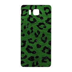 Skin5 Black Marble & Green Leather Samsung Galaxy Alpha Hardshell Back Case by trendistuff