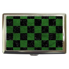 Square1 Black Marble & Green Leather Cigarette Money Cases by trendistuff