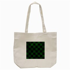 Square1 Black Marble & Green Leather Tote Bag (cream) by trendistuff