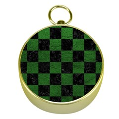 Square1 Black Marble & Green Leather Gold Compasses by trendistuff