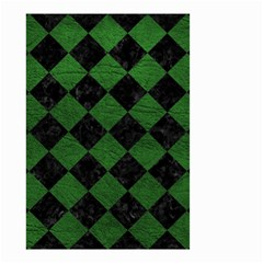 Square2 Black Marble & Green Leather Small Garden Flag (two Sides) by trendistuff