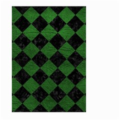 Square2 Black Marble & Green Leather Large Garden Flag (two Sides) by trendistuff