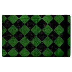 Square2 Black Marble & Green Leather Apple Ipad 3/4 Flip Case by trendistuff