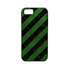 Stripes3 Black Marble & Green Leather Apple Iphone 5 Classic Hardshell Case (pc+silicone) by trendistuff
