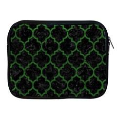 Tile1 Black Marble & Green Leather Apple Ipad 2/3/4 Zipper Cases by trendistuff
