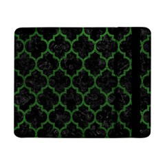 Tile1 Black Marble & Green Leather Samsung Galaxy Tab Pro 8 4  Flip Case by trendistuff
