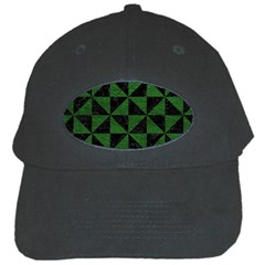 Triangle1 Black Marble & Green Leather Black Cap by trendistuff
