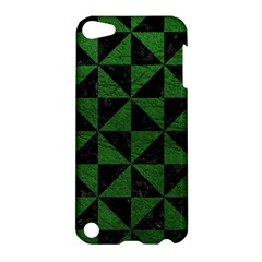 Triangle1 Black Marble & Green Leather Apple Ipod Touch 5 Hardshell Case by trendistuff