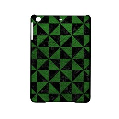 Triangle1 Black Marble & Green Leather Ipad Mini 2 Hardshell Cases by trendistuff