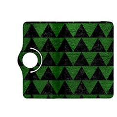 Triangle2 Black Marble & Green Leather Kindle Fire Hdx 8 9  Flip 360 Case by trendistuff