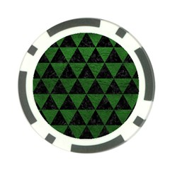 Triangle3 Black Marble & Green Leather Poker Chip Card Guard