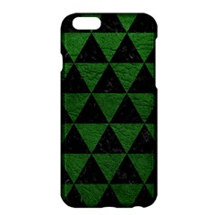 Triangle3 Black Marble & Green Leather Apple Iphone 6 Plus/6s Plus Hardshell Case by trendistuff