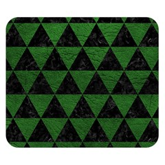 Triangle3 Black Marble & Green Leather Double Sided Flano Blanket (small)