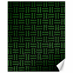 Woven1 Black Marble & Green Leather Canvas 16  X 20   by trendistuff