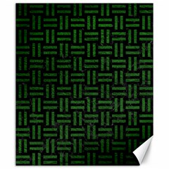 Woven1 Black Marble & Green Leather Canvas 20  X 24   by trendistuff