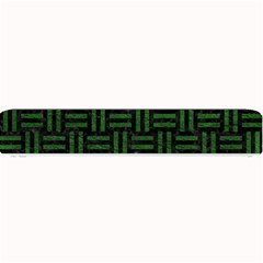 Woven1 Black Marble & Green Leather Small Bar Mats by trendistuff