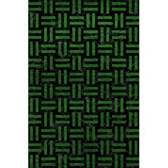 Woven1 Black Marble & Green Leather 5 5  X 8 5  Notebooks by trendistuff