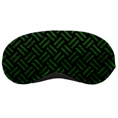 Woven2 Black Marble & Green Leather Sleeping Masks by trendistuff