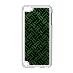 Woven2 Black Marble & Green Leather Apple Ipod Touch 5 Case (white) by trendistuff