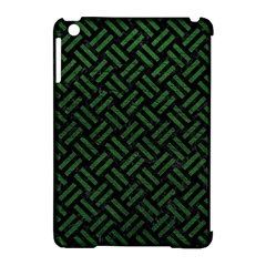 Woven2 Black Marble & Green Leather Apple Ipad Mini Hardshell Case (compatible With Smart Cover) by trendistuff