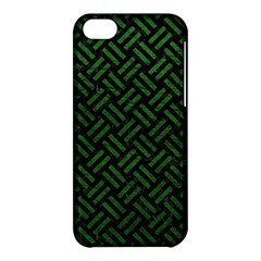 Woven2 Black Marble & Green Leather Apple Iphone 5c Hardshell Case by trendistuff