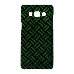Woven2 Black Marble & Green Leather Samsung Galaxy A5 Hardshell Case  by trendistuff
