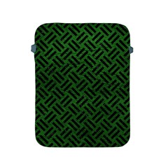 Woven2 Black Marble & Green Leather (r) Apple Ipad 2/3/4 Protective Soft Cases by trendistuff