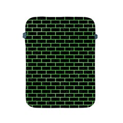 Brick1 Black Marble & Green Watercolor Apple Ipad 2/3/4 Protective Soft Cases by trendistuff