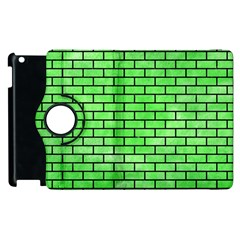 Brick1 Black Marble & Green Watercolor (r) Apple Ipad 3/4 Flip 360 Case by trendistuff