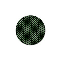 Brick2 Black Marble & Green Watercolor Golf Ball Marker (10 Pack) by trendistuff