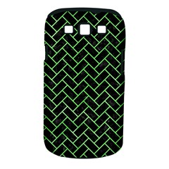 Brick2 Black Marble & Green Watercolor Samsung Galaxy S Iii Classic Hardshell Case (pc+silicone) by trendistuff