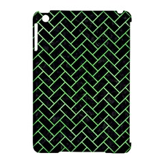 Brick2 Black Marble & Green Watercolor Apple Ipad Mini Hardshell Case (compatible With Smart Cover) by trendistuff