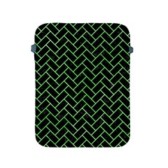 Brick2 Black Marble & Green Watercolor Apple Ipad 2/3/4 Protective Soft Cases by trendistuff