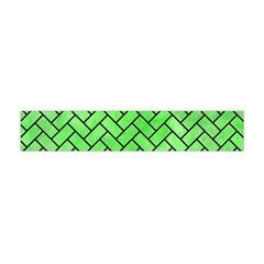 Brick2 Black Marble & Green Watercolor (r) Flano Scarf (mini) by trendistuff