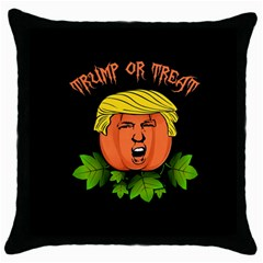 Trump Or Treat  Throw Pillow Case (black) by Valentinaart