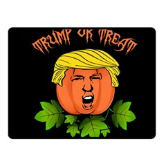Trump Or Treat  Fleece Blanket (small) by Valentinaart