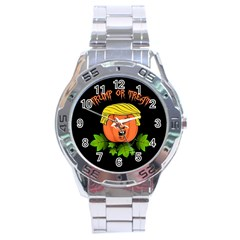 Trump Or Treat  Stainless Steel Analogue Watch by Valentinaart