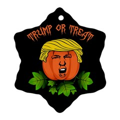 Trump Or Treat  Snowflake Ornament (two Sides) by Valentinaart