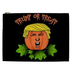 Trump Or Treat  Cosmetic Bag (xxl)  by Valentinaart