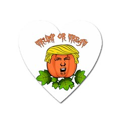 Trump Or Treat  Heart Magnet by Valentinaart