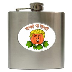 Trump Or Treat  Hip Flask (6 Oz) by Valentinaart