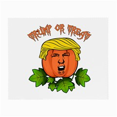Trump Or Treat  Small Glasses Cloth (2 Side) by Valentinaart