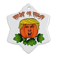 Trump Or Treat  Ornament (snowflake) by Valentinaart