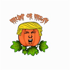 Trump Or Treat  Large Garden Flag (two Sides) by Valentinaart