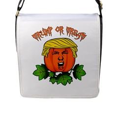 Trump Or Treat  Flap Messenger Bag (l)  by Valentinaart
