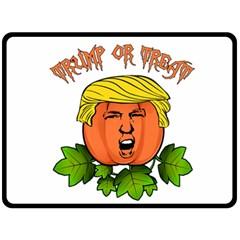 Trump Or Treat  Double Sided Fleece Blanket (large)  by Valentinaart