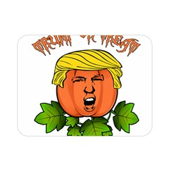 Trump Or Treat  Double Sided Flano Blanket (mini)  by Valentinaart