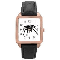 Tarantula Rose Gold Leather Watch  by Valentinaart